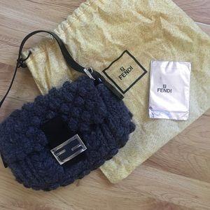 FENDI Knit baguette shoulder bag